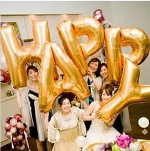 Buy 26 letters free combination balloon wholesale 100 cm aluminum film Golden letters party balloon decoration balloons for $3.22 in AliExpress store