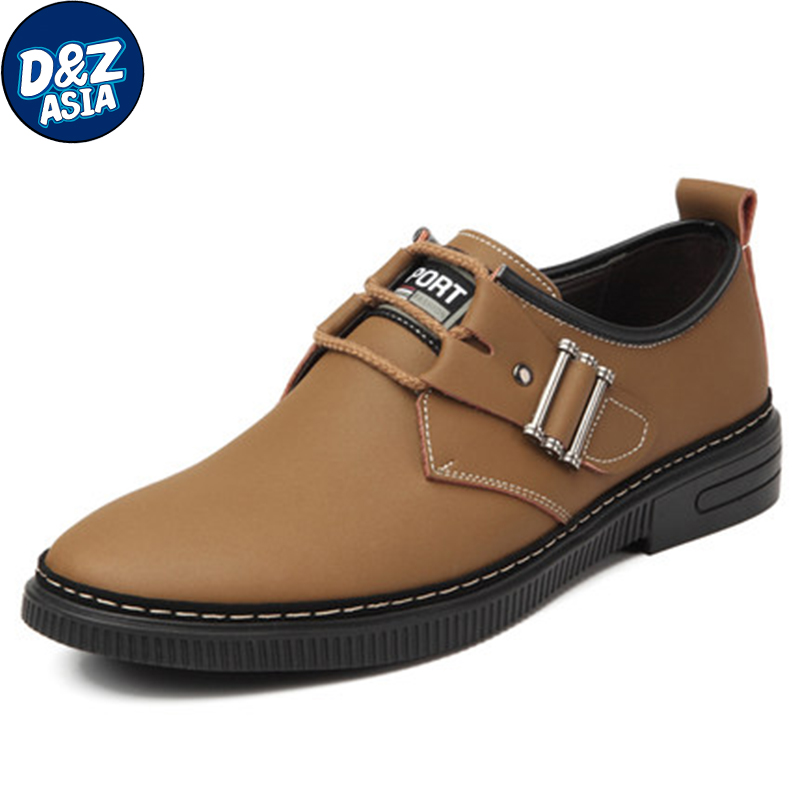 Male leather male genuine leather lacing autumn and winter shoes casual shoes nubuck leather shoes male