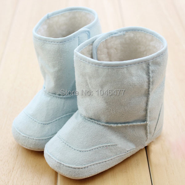 2014 New Fashion Super Warm Winter Baby Ankle Snow Boots Infant Shoes Pink Khaki Antiskid Keep Warm Baby Shoes First Walkers(China (Mainland))
