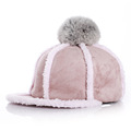 2016 Fashion Children hats Autumn And Winter Baseball Hat Riding Peaked Cap Adjustable Wool Warm Hat