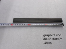 Dia.6*300mm High pure Graphite Rod 45pcs 1 lot / Electrodes for EDM/Sintered Artificial high purity graphite rod