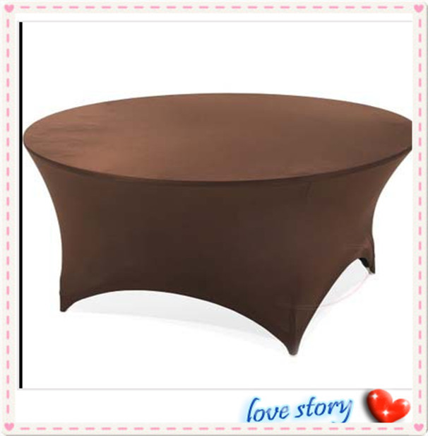 "2015 Big Discount !!! 10pcs Coffle Spandex Table Cover 72"" Inch Round FREE SHIPPING(China (Mainland))"