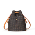 Trendy New Bucket Bag Women Geometric Pattern Large Capacity Drawstring Three purpose Bag Backpack Shoulder Bag