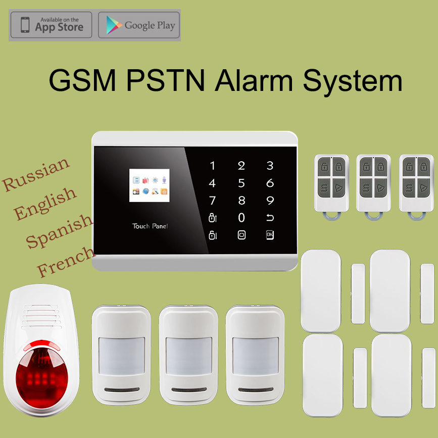 Hot Selling Kr 8218g Diy Wireless Gsm Pstn Security Alarm