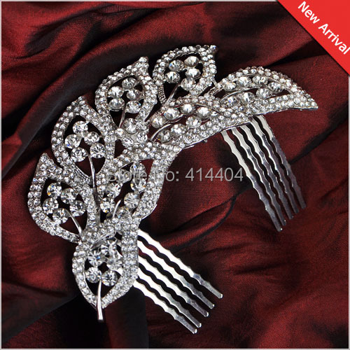 12pcs/lot Crystal Rhinestone Wholesale Hair comb, 3H006, Factory outlets Women Wedding accessory Bridal Jewelry(China (Mainland))