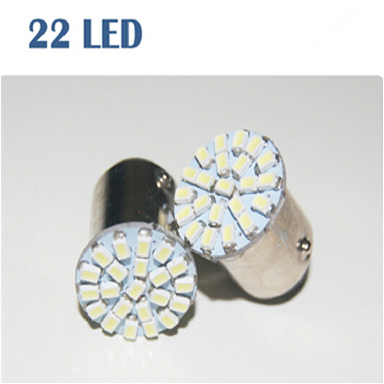 Wholesale 30 pcs S25 1156 1157 22 SMD 1206 led Car Parking Rear Brake Light 12V Free Shipping(China (Mainland))