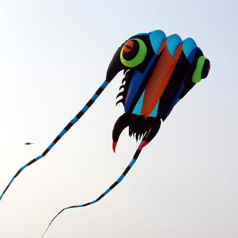 10sqm soft kite 3D Huge Soft Giant Trilobites Kite Outdoor Sport Easy to Fly Frameless show kite(China (Mainland))
