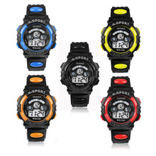 Waterproof Children Boy Digital LED Quartz Alarm Date Sports Wrist Watch Alipower