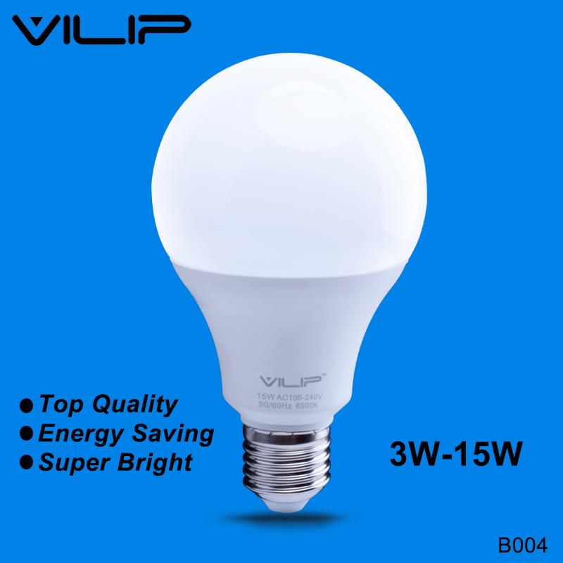 Vilip LED Bulb Real Watt E27 B22 3w 5w 7w 9w 12w 15w 110v 220v SMD2835 Bombillas LED Lamp For Home Market No Flash NoiselessB004(China (Mainland))