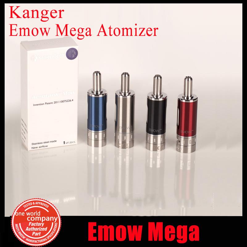 10pcs/lot Authentic Kanger Emow Mega Atomzier Airflow 1.8ohm Control Kangertech Emow Mega Clearomizer 2.8ml 5 colors<br><br>Aliexpress