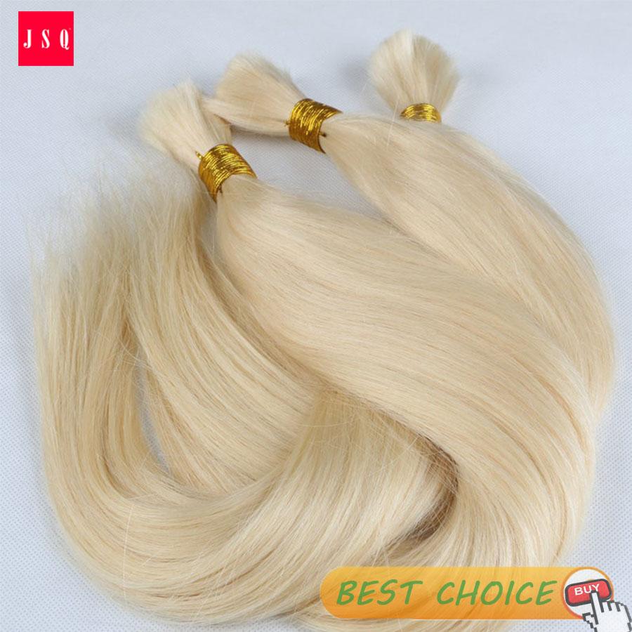 JSQ 613 Blonde Hair Bulk Hair Braid x-pression Dread locks Straight Cuticle Living Hair 5 Bundles Per Bag Free Shipping By UPS