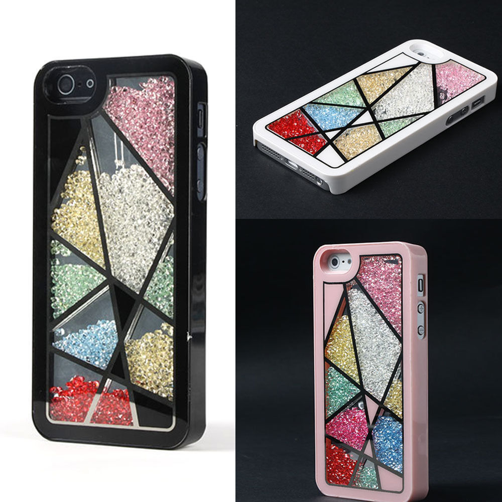 Stylish Bird's Nest Shining Crystal Diamonds Filled Case Cover For iPhone 5 5G(China (Mainland))