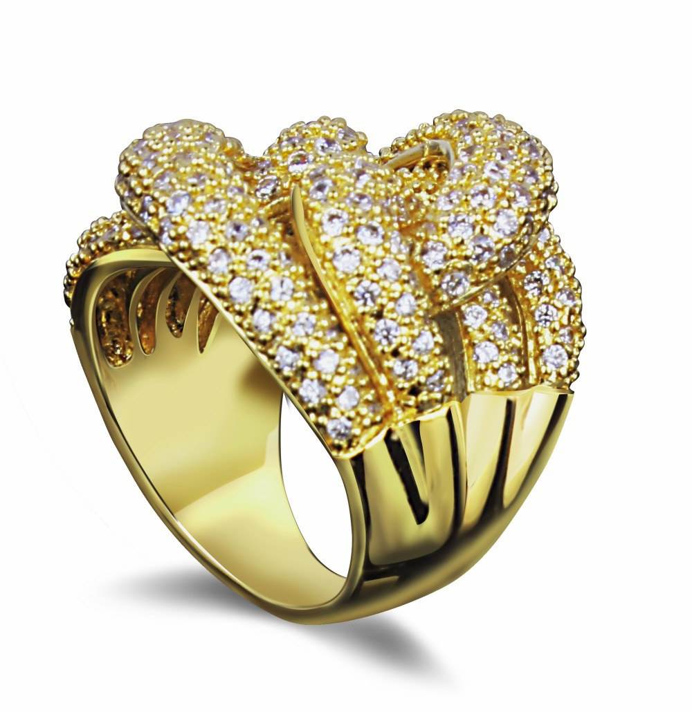 DC1989 New Arrival Gold Plated Vintage Cubic Zircon Brass Rings Fashion Costume Jewelry Free Shipping Lead Free Nickel Free(China (Mainland))