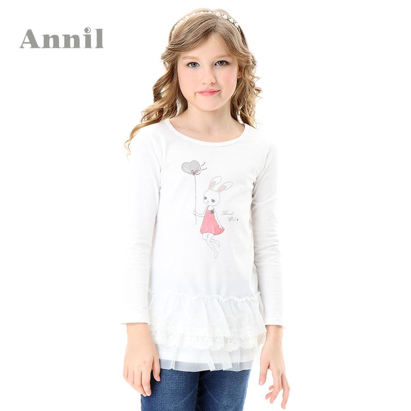 Annil's girls spring girl long sleeve knit dress AG411412 lolita style T-shirt sale - Hangzhou Angelababy KIDS Clothing Co.,Ttd store