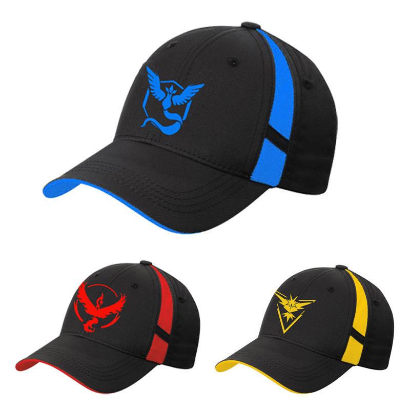 2016 Fashion Pokemon Go Baseball Hat Team Mystic InstInct Valor Blue ...
