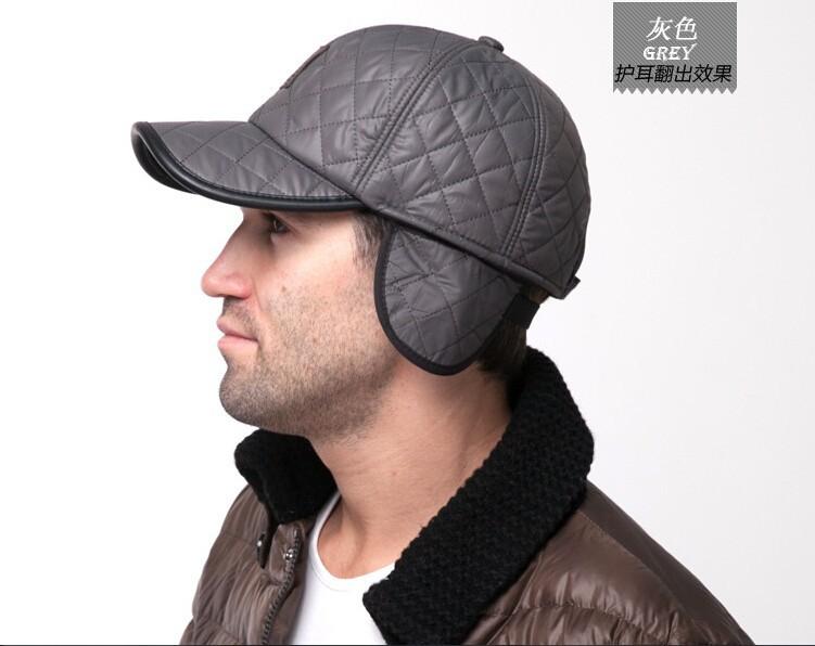 High quality 2015 baseball cap men autumn winter Fashion Caps waterproof fabric Hats Thick warm earmuffs baseball cap 4 colors
