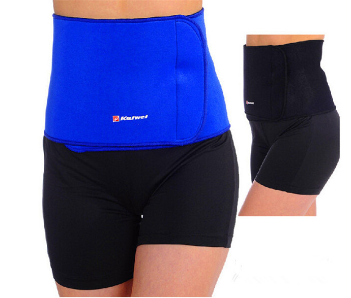 Hot Slimming Waist Belt cinchers Trimmer Exercise Weight Loss Burn Fat Sauna Body Shaper Blue & Black KW0620 - Happy Go 007 store