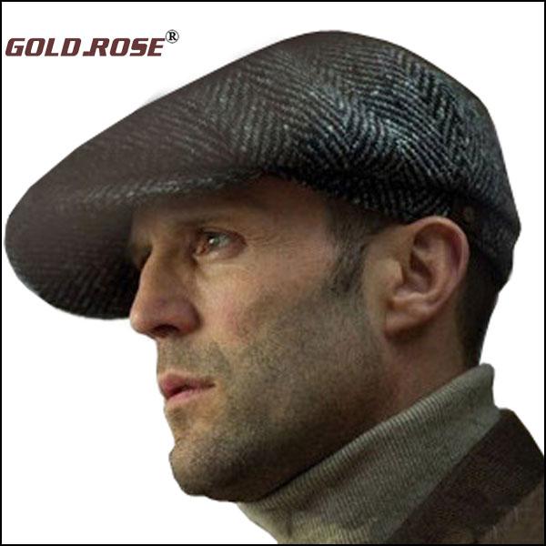 New Retro Newsboy Hat Caps HERRINGBONE TWEED GATSBY Golf Driving Men Wool Fleece Hat, Cabbie Flat Hats free shipping #GRH001(China (Mainland))