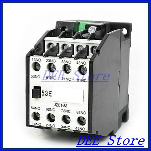 35mm DIN Rail Mounted 3P 5NO+3NC 36VAC Coil Contactor Type Relay JZC1-53<br><br>Aliexpress