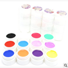 new 12 Pcs Mix Pure Solid Color cnd shellac UV Builder Gel Set for Nail Art False French Tips Nail Gel Nail Polish Varnish Canni(China (Mainland))
