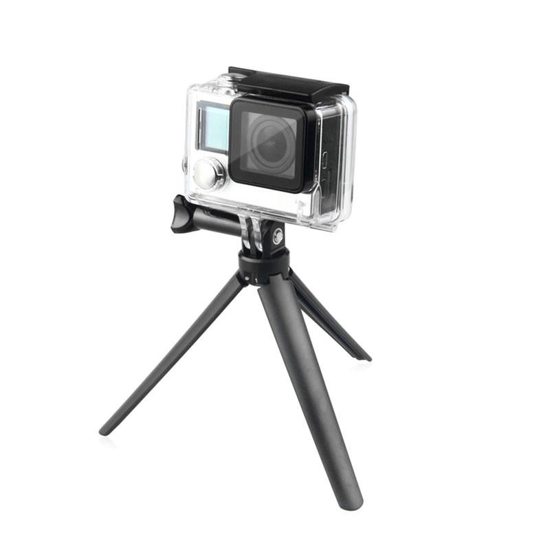Waterproof 3 Way Monopod Grip Extension Arm Tripod Mount For Gopro Hero 4 3+ Xiaomi Yi SJCAM SJ4000 Camera Cellphone Accessorios