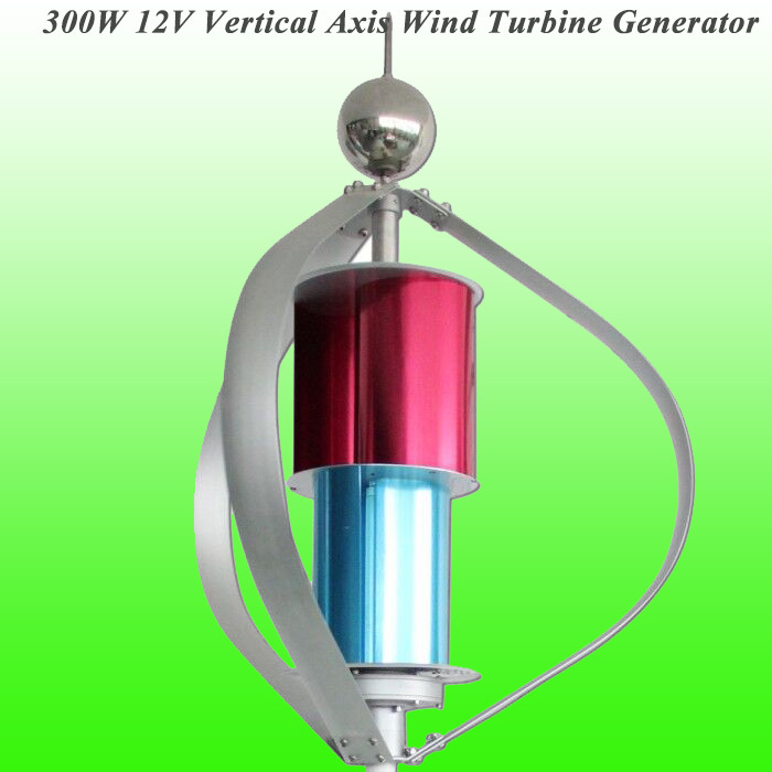 Perfect Low Wind Speed Starting 300W 12V Vertical Wind Generator for Road Lighting System+CE/ISO9001 Approved+3 Years Warranty(China (Mainland))