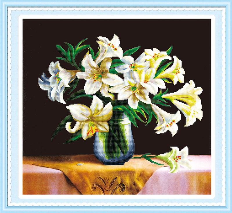 Needlework,45*42 flowers diy hobby crafts diamond painting mosaic dmc cross stitch costura diamond kits for embroidery 1037(China (Mainland))