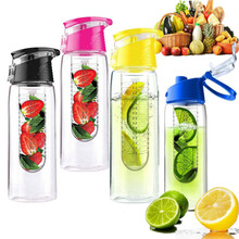 800ML Fashion Flesh Fruit infuser infusing Water Bottle Sports Fitness Health Lemon Juice Make Bottle Cycling Camping Cup(China (Mainland))