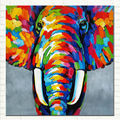Pop Art Elephant Oil Painting On Canvas African Abstract Art Wildlife for Modern Wall Art Home