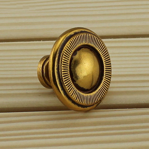 Button shaped European copper archaize single hole furniture handle Classical drawer/closet knobs Chinese&European style pull(China (Mainland))