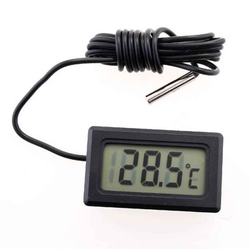Black LCD Electronic Fish Tank Water Detector Thermometer Aquarium Digital Thermograph #SZ01049(China (Mainland))