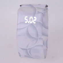 2018 Hot Creative Men LED Paper Watch Waterproof Watch Boy girl Student Paper Strap Digital Watches Relogio Feminino Hodinky(China)
