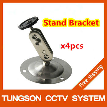 4pcs 90mm Height Wall Mount Stand Bracket For Security Camera,Base Diameter 90mm CCTV Accessories Free Shipping  Wholesale