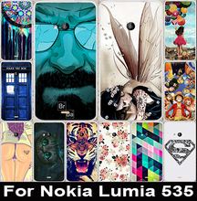 High Quality DIY 22 Styles Painted Print Hard Back Cover Mobile phone cases Shell For Microsoft Nokia Lumia 535 Case Cover
