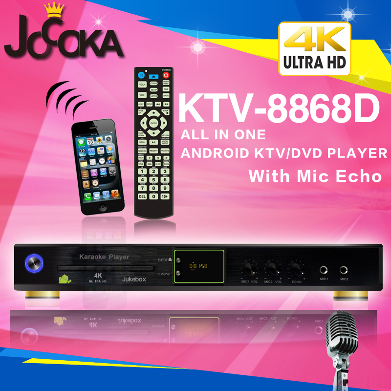 JOCOKA KTV-8868D All-in-one Android 4K KTV karaoke player,the machine Support over 3TB Hard disk, build-in DVD-ROM and AGC/AVC(China (Mainland))