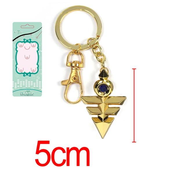 Yu-Gi-Oh! Duel Monster Yugi Muto Metal Millennium puzzle Keychains Pendant Key Chain Key Ring Boxed 6 Styles ANPD2381(China (Mainland))