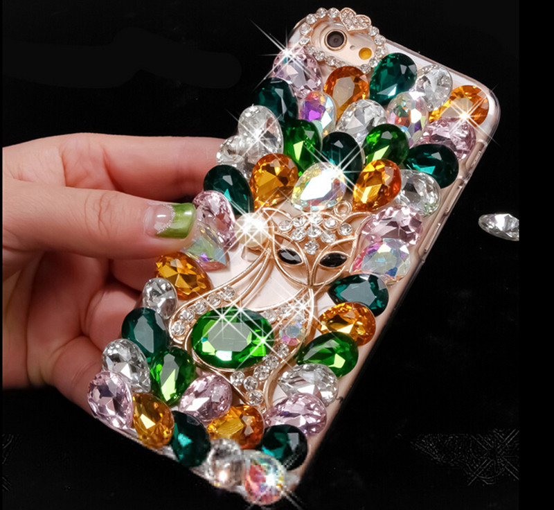 Bling Crystal Rhinestone Diamond PC Case Cover For Samsung Galaxy Note 5 Note 4 Note 7 S3 S4 S5 S6 Edge Plus S7 Edge J1 J3 J5 J7(China (Mainland))