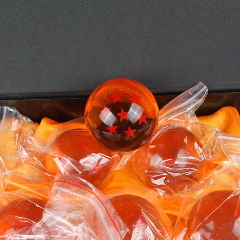 Фотография 7Pcs/set New Pro 1set  7CM Dragon Ball Z New In Box 7 Stars Crystal Balls Set of 7 pcs Complete set retail