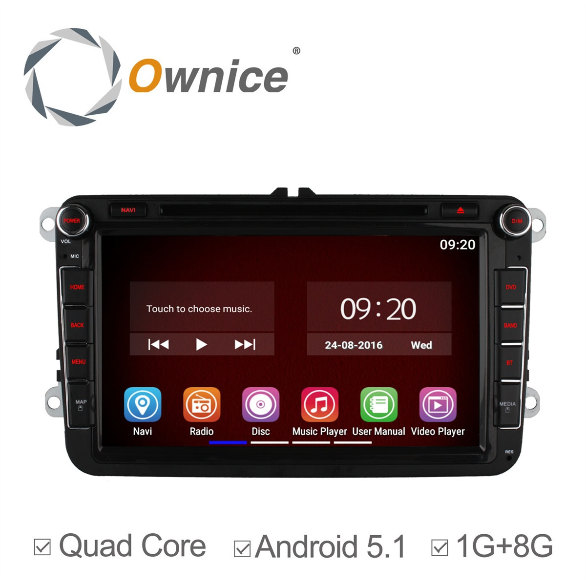 Quad Core Android 5.1 Car DVD Player GPS VW GOLF 5 Golf 6 POLO PASSAT CC JETTA TIGUAN TOURAN EOS SHARAN TRANSPORTER T5 CADDY - Carwin Top D V r store