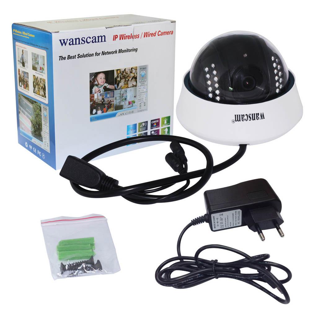 Гаджет  New Wanscam Night Vision 300K Pixel Indoor Dome IP Camera DDNS Cellphone View NVIE None Безопасность и защита