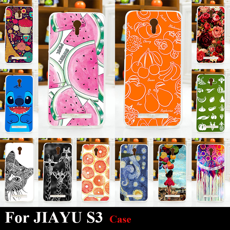 Case JIAYU S3 Colorful Printing Drawing Transparent Plastic Phone Cover JIAYU S3 tpu Soft mobile Phone Cases