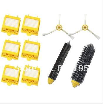 700 Series Vacuum Cleaner Accessory for iRobot Roomba Includes: 6 Filters, 2 Side Brushes Flexible Beater Brush Bristle Brush(China (Mainland))