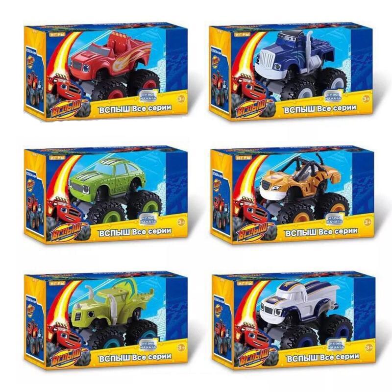 Original Box 6pcs/set Blaze Monster Machines Toys Vehicle Car Kids Toys(China (Mainland))