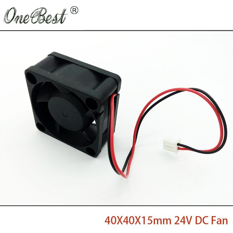 Free Shipping 40X40X15mm Fan DC 24V 0.1A 4cm 40mm Brushless Fan Small Power Supply 4015 Cooling Fan XH2.54-2Pin Length 150mm(China (Mainland))