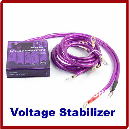 Car Universal Vehicle Voltage Stabilizer Fuel Saver Regulators + 3 Earth Cable(China (Mainland))
