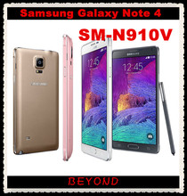 "Samsung Galaxy Note 4 N910V Verizon Original Unlocked 4G LTE GSM&CDMA Android Mobile Phone Octa Core 5.7"" 16MP RAM 3GB ROM 32GB(China (Mainland))"