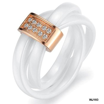 New Arrival Top Quality Fashion Jewelry Crystal inlaid Rings Ceramic Carbon Fiber Finger Ring Factory Price New Style