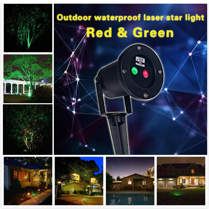 New US plug Red Green Laser Christmas Light Star Projector IP65 Waterproof Landscape with remote Control for Holiday Decorations<br><br>Aliexpress