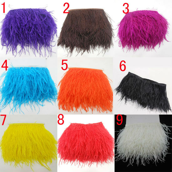 "4Meters/ 6-8"" Trim Ostrich Fringe fluffy ostrich plumes feather feathers centerpieces wedding Clothing decoration hot sale!(China (Mainland))"