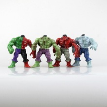 Marvell The Avengers Super Hero Hulk Hulkbuster 4 Pieces/set Action Figure 12cm Without Retail box